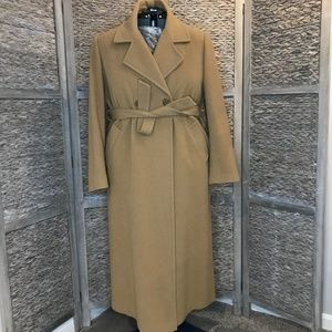 WMNS Double Breasted Wool Camel Coat